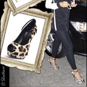 Giuseppe Zanotti Leopard Heels Size 38.5